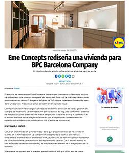 Eme Concepts rediseña una vivienda para BPC Barcelona Company
